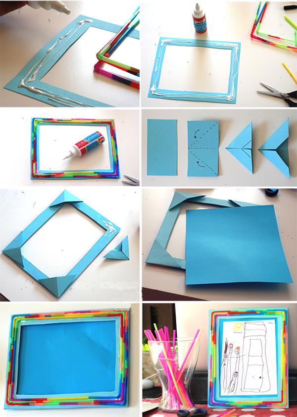 Рамка из цветного картона