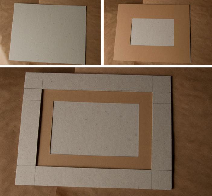 Рамка из картона
