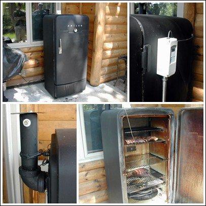 Коптильня из старого холодилника