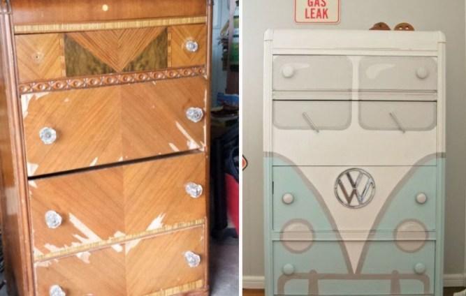 Ящик под инструменты из старой тумбочки