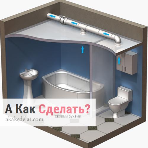 Как правильно устроить вентиляцию в ванной