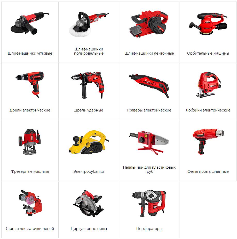 Электроинструмент от производителя Start-tools: ассортимент продукции